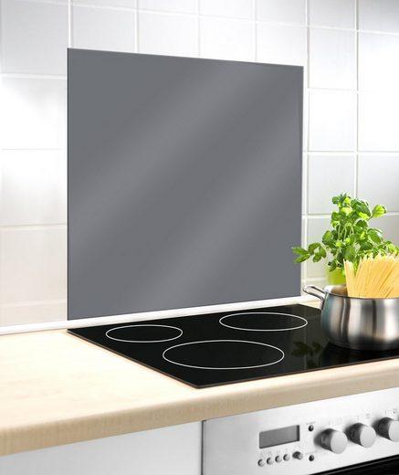 WENKO Küchenrückwand »Glasrückwand Grau«, 60 x 70 cm