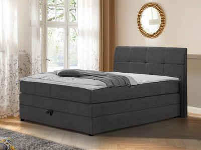 DELAVITA Boxspringbett »Finja« (4-St), besonders komfortable Liegehöhe, mit praktischem Bettkasten