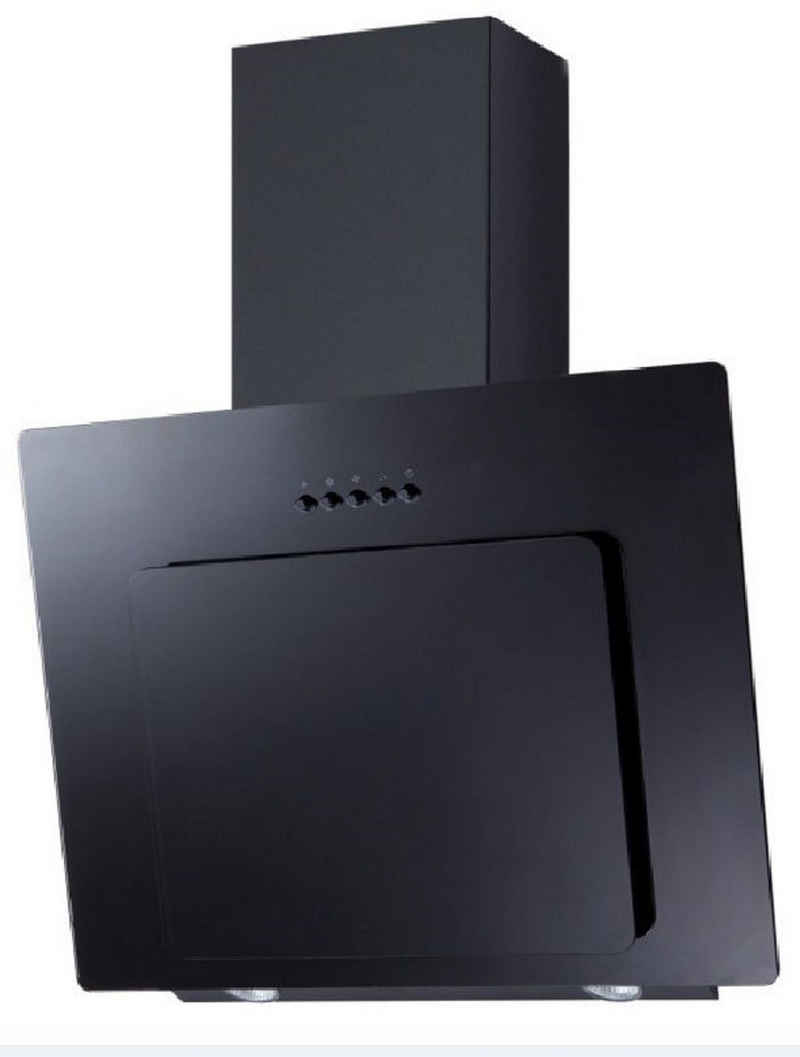 PKM Kopffreihaube PKM 9039X Glas schwarz Dunstabzugshaube Randabsaugung 60cm Schräg, Abluft- oder Umluftbetrieb möglich
