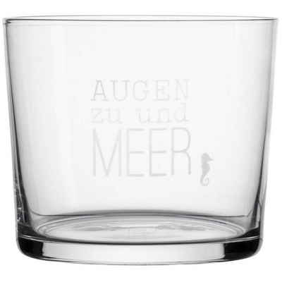 """Räder Design Glas »MEER ALS WORTE. WASSERGLAS """"AUGEN ZU UND MEER""""«"""
