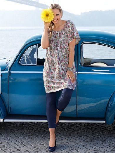 MIAMODA Shirtkleid mit elastischem Carmenausschnitt