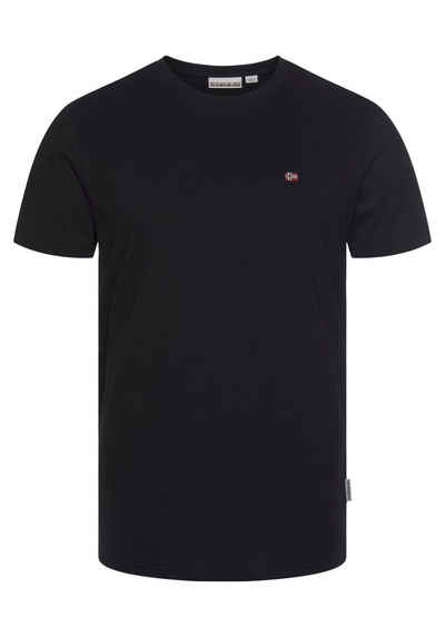 Napapijri T-Shirt »SALIS« mit kleiner Flaggenstickerei