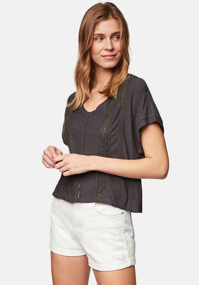 Mavi T-Shirt »LACE DETAIL TOP« V-Shirt in stylischer Cropped Form