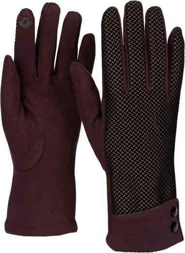 styleBREAKER Baumwollhandschuhe Touchscreen Handschuhe mit weichem Riffel Muster