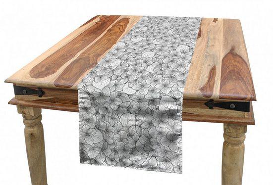 Abakuhaus Tischläufer »Esszimmer Küche Rechteckiger Dekorativer Tischläufer«, Blumen Monochrome Little Flowers