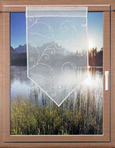 Scheibengardine »CAUMASEE«, HOSSNER - ART OF HOME DECO, Stangendurchzug (1 Stück), passend zu allen Einrichtungsstilen