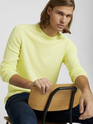 TOM TAILOR Denim Strickpullover »strukturierter Pullover«