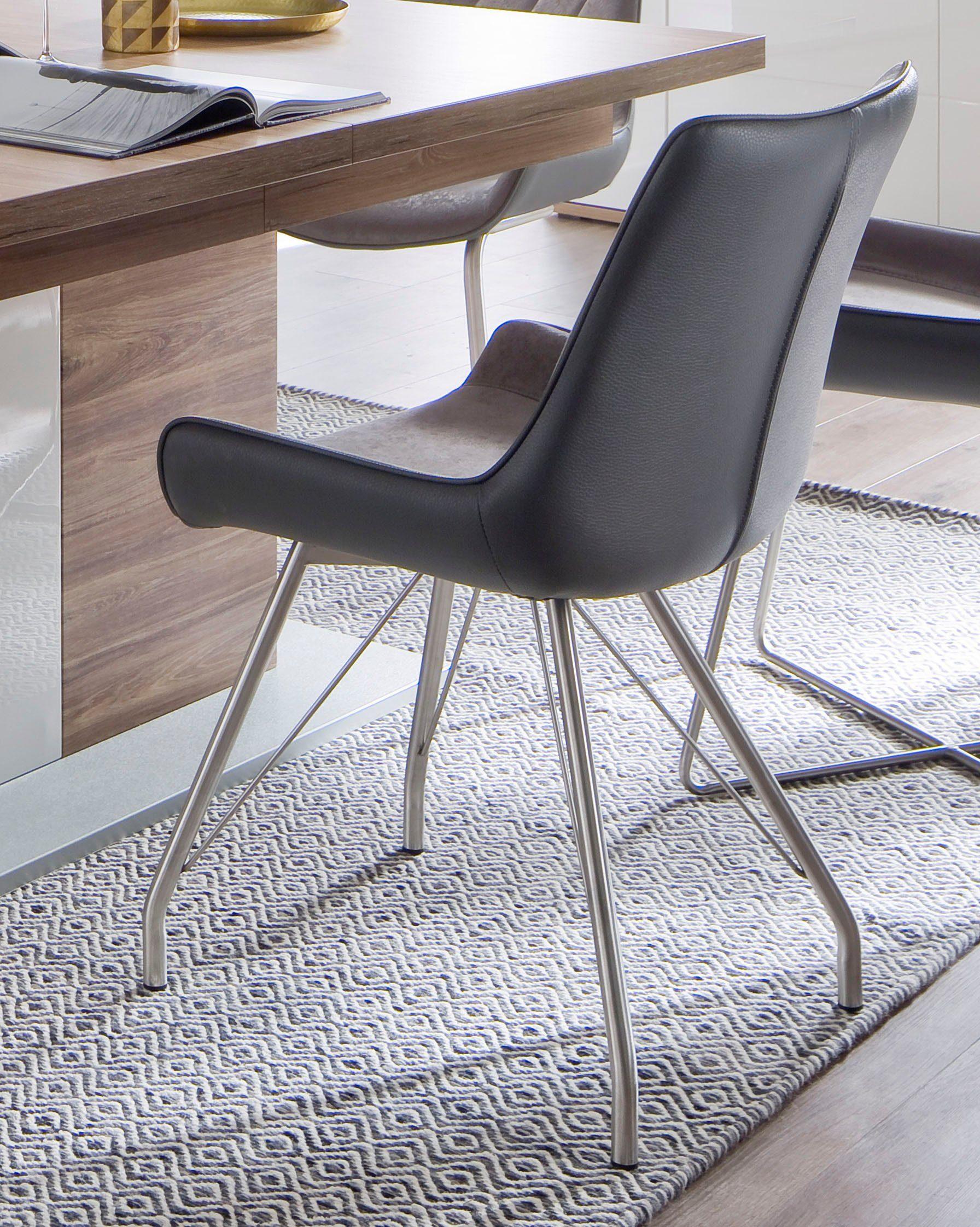 MCA furniture 4 Fußstuhl »Danita A« 2er Set, Stuhl bis 120 Kg belastbar online kaufen | OTTO