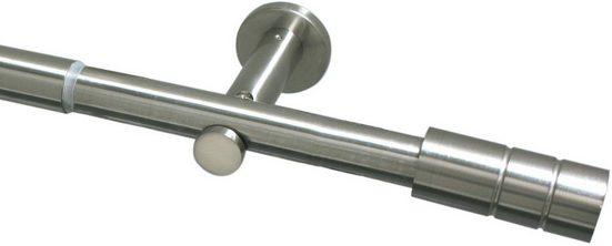 Gardinenstange »Gardinenstangen Set Metall 22/25 mm«, GARDINIA, Ø 25 mm, 1-läufig, ausziehbar, Serie Zylinder