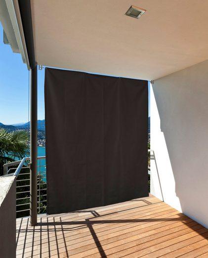 HECHT Balkonsichtschutz , schwarz, LxB: 230x140 cm