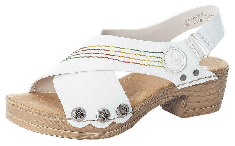 Rieker Sandalette mit bunter Ziernaht