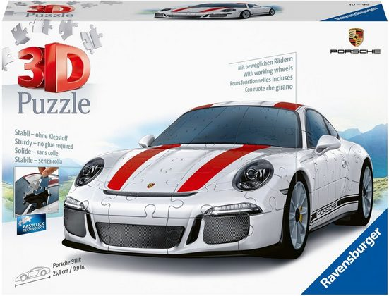 Ravensburger 3D-Puzzle »Porsche 911 R«, 108 Puzzleteile, Made in Europe, FSC® - schützt Wald - weltweit