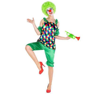 tectake Clown-Kostüm »Frauenkostüm Clown Auguste«