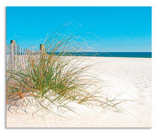 Artland Küchenrückwand »Schöne Sanddüne mit Gräsern und Zaun«, (1-tlg)