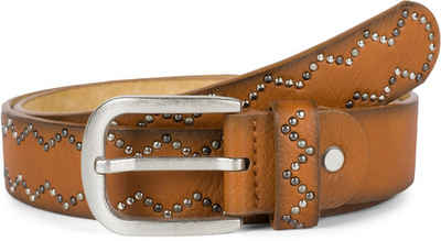 styleBREAKER Nietengürtel »Nietengürtel mit Nieten im Zacken Muster« Nietengürtel mit Nieten im Zacken Muster