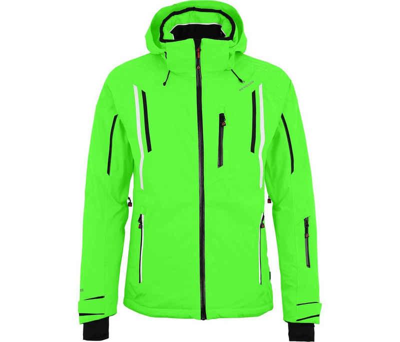 Bergson Skijacke »RILEY« Herren Skijacke, wattiert, 20000 mm Wassersäule, Normalgrößen, Gecko grün