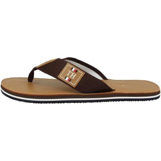 TOMMY HILFIGER »Elevated TH Leather Beach Sandal« Zehentrenner