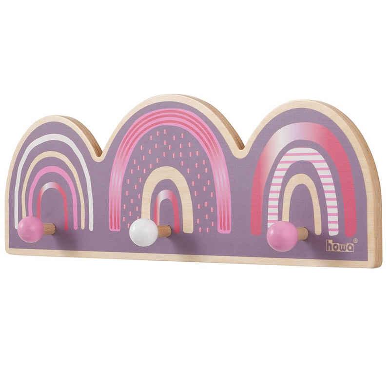 howa Garderobe »rainbow«, Wandgarderobe für Kinder aus Holz
