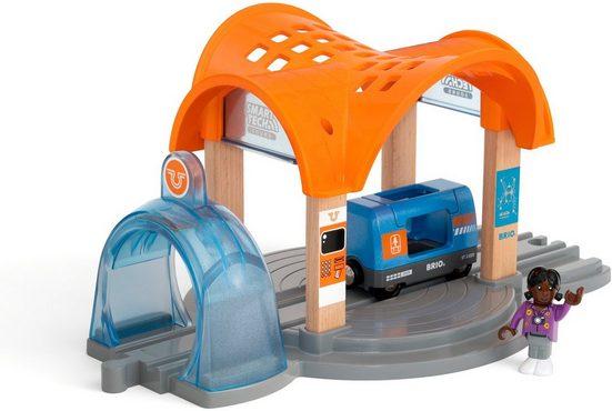 BRIO® Spielzeugeisenbahn-Tunnel »BRIO® Smart Tech Sound Bahnhof mit Action Tunnel«, FSC®-Holz aus gewissenhaft bewirtschafteten Wäldern