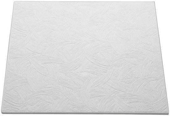 Decoflair Deckenplatten »Deckenplatte T133«, (Set, 80-tlg) in Putzoptik