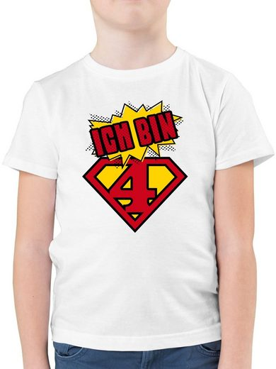 Shirtracer T-Shirt »Ich bin 4 Superheld - Geburtstag Kind - Jungen Kinder T-Shirt - T-Shirts« jungen tshirt 4 jahre