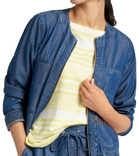 Basler Blouson »BASLER Cruise Liner Blouson leichte Damen Frühlings-Jacke im Denim-Look Freizeit-Jacke Jeansblau«