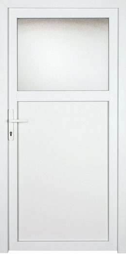 KM MEETH ZAUN GMBH Nebeneingangstür »K701P«, BxH: 98x208 cm cm, weiß, links