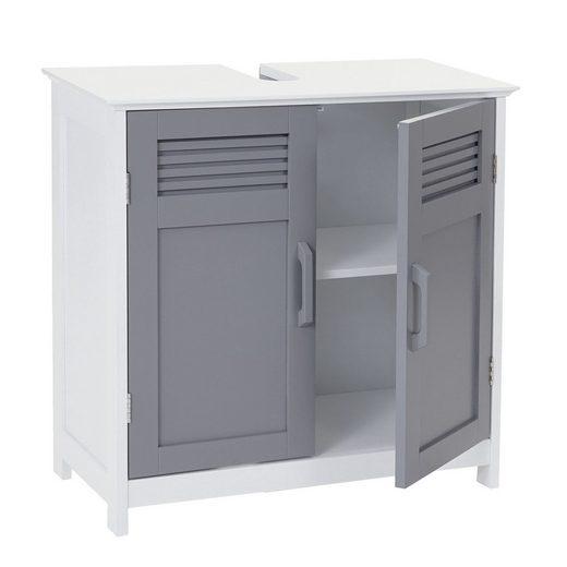 MCW Waschbeckenunterschrank »MCW-A85-u« Magnetischer Türverschluss, Aussparung enthalten