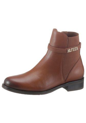 TOMMY HILFIGER »BLOCK BRANDING FLAT BOOT« Chelseaboot...