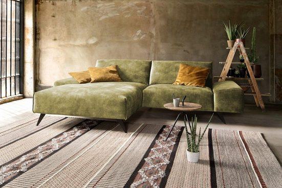 KAWOLA Sofa »KENDY«, Velvet Stoff verschiedene Ausführungen und Farben