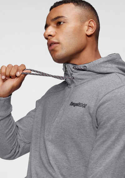 KangaROOS Kapuzensweatshirt mit Kordelzug und Reißverschluss