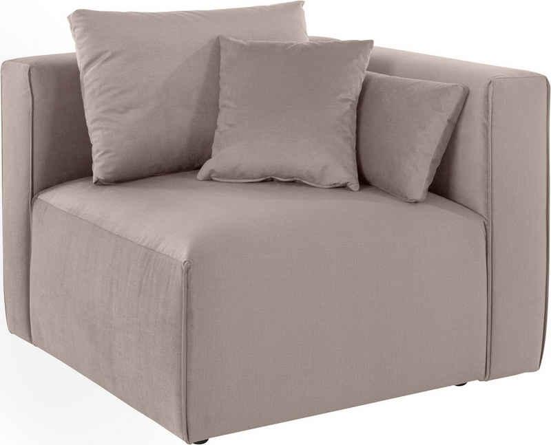 Guido Maria Kretschmer Home&Living Sofa-Eckelement »Marble«, Modul-Ecke zur indiviuellen Zusammenstellung eines perfekten Sofas, in 3 Bezugsvarianten und vielen Farben