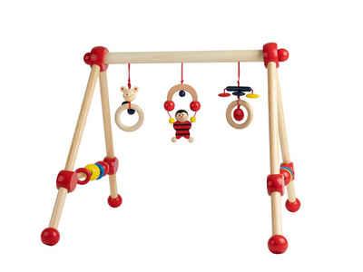 BIECO Baby Gym »Bieco Spieltrapez Spielbogen für Babys -Figuren, Rasseln, Kugeln Spielebogen Holz Baby Spieltrapez Holz Baby Mobile Holz Activity Center Baby Gym Holzspielzeug Baby Baby Spielzeug«