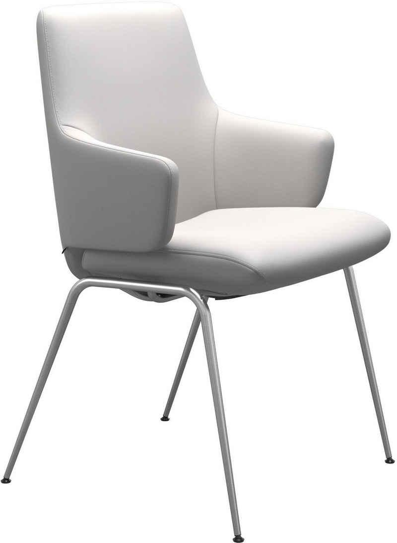 Stressless® Polsterstuhl »Laurel«, Low Back mit Armlehne, Größe L, mit Beinen aus Stahl in Chrom glänzend