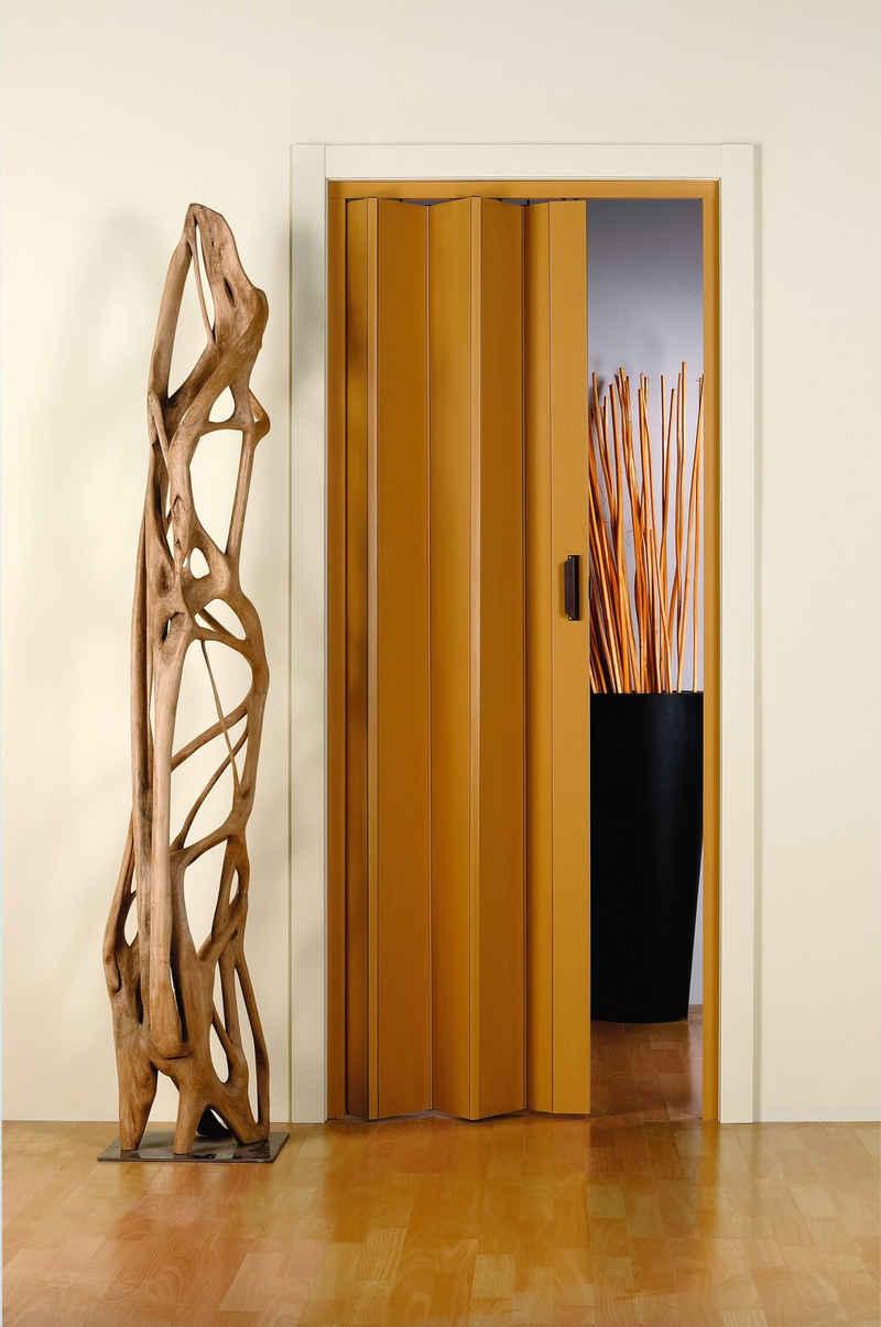 Falttür »Monica«, BxH: 83x204 cm, Eichefarben-Pastell ohne Fenster