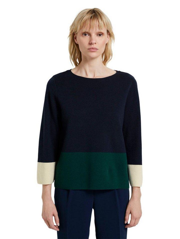tom tailor mine to five -  Strickpullover im Colorblocking-Stil