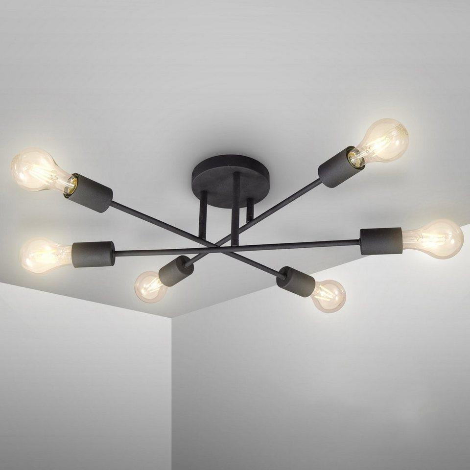 B.K.Licht LED Deckenleuchte, LED Vintage Leuchte Deckenlampe Retro  Industrial E12 schwarz rustikal online kaufen   OTTO
