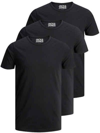 Jack & Jones T-Shirt »Basic O-Neck« (3-tlg., 3er Pack) etwas länger geschnitten, nicht zu kurz