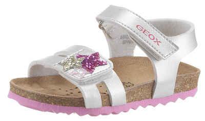 Geox Kids »CHALKI GIRL« Sandale mit glitzernden Sternchen auf dem Klettverschluss