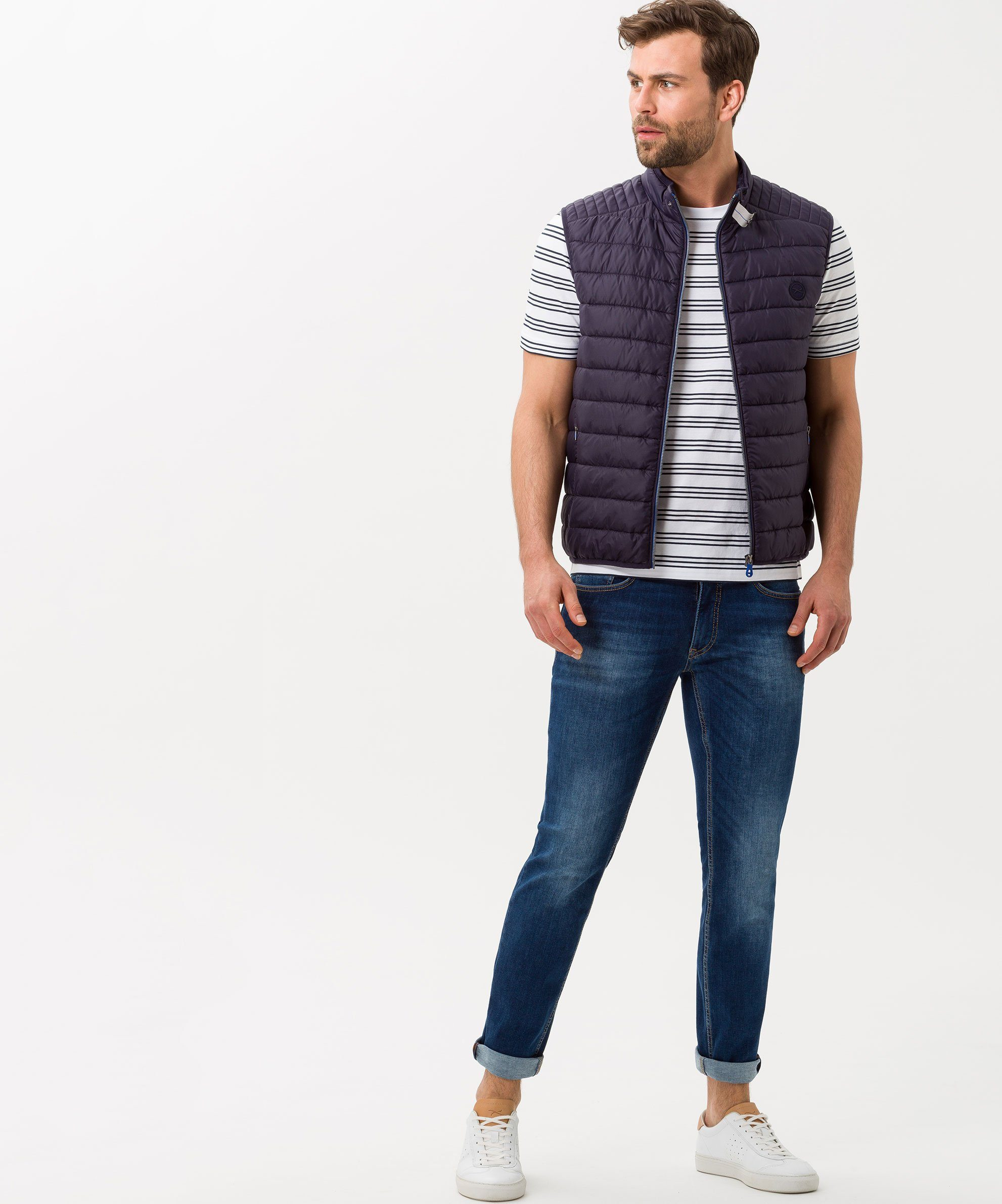 Brax T-Shirt Style Troy, Lässiges Shirt mit sportiver Streifenoptik m9IWD7