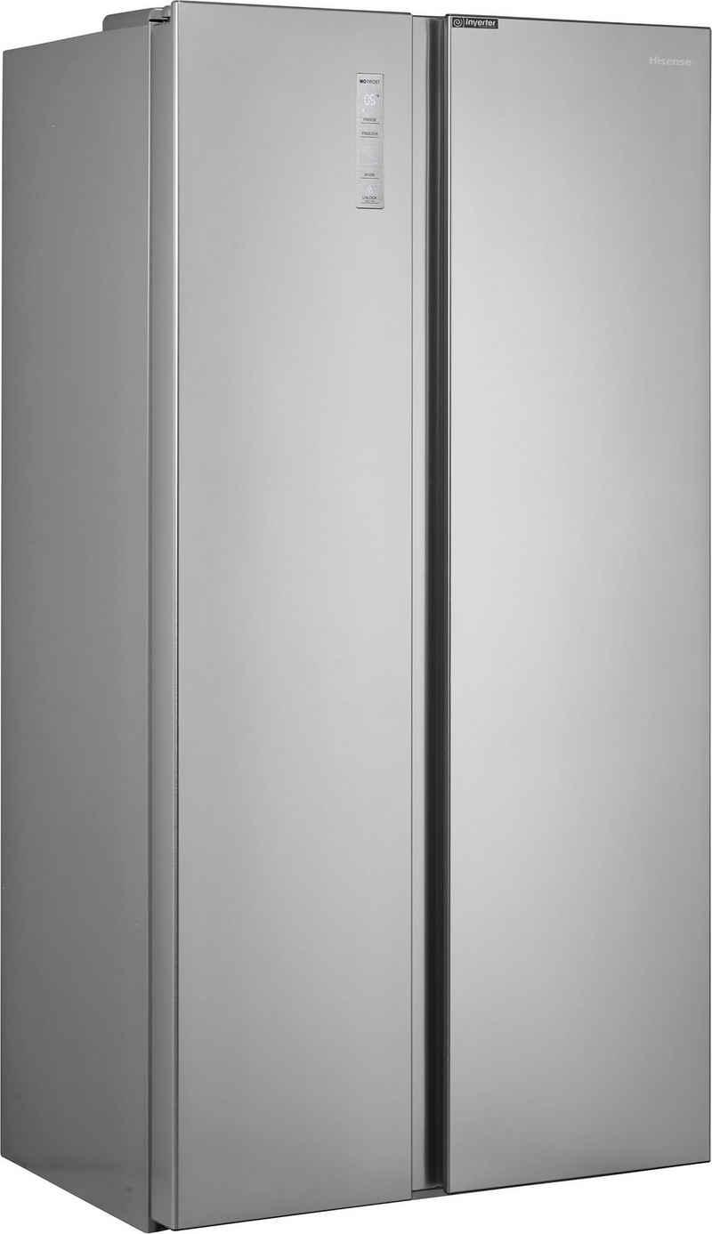 Hisense Side-by-Side RS677N4BIE, 178,6 cm hoch, 91 cm breit