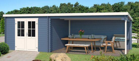 Nordic Holz Gartenhaus »St. Louis«, BxT: 701x319 cm, (Set), mit Anbau