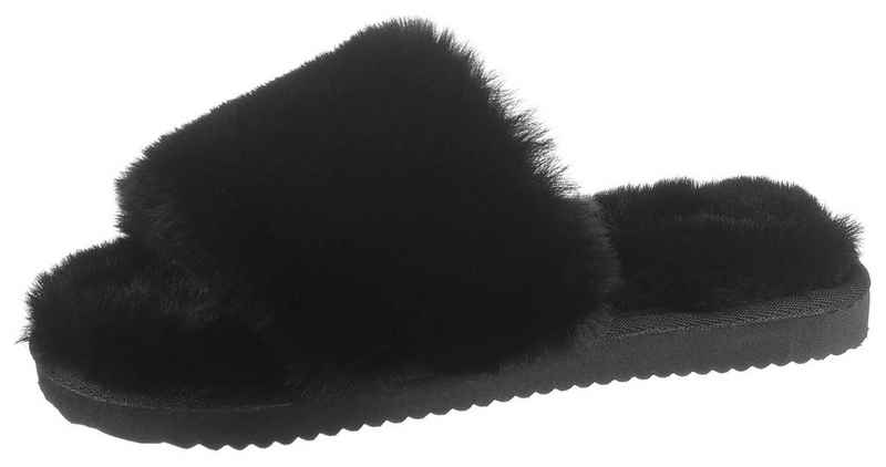 Flip Flop »SLIDE*FUR« Pantoffel mit breiter Bandage