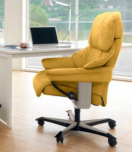 Stressless® Relaxsessel »Reno«, mit Home Office Base, Größe M, Gestell Whitewash