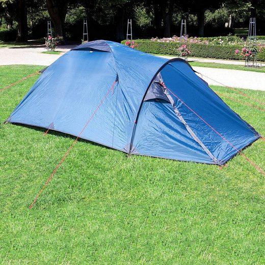 dynamic24 Kuppelzelt, Personen: 2, Wanderlust Zelt Camping Outdoor Festival Igluzelt Blau