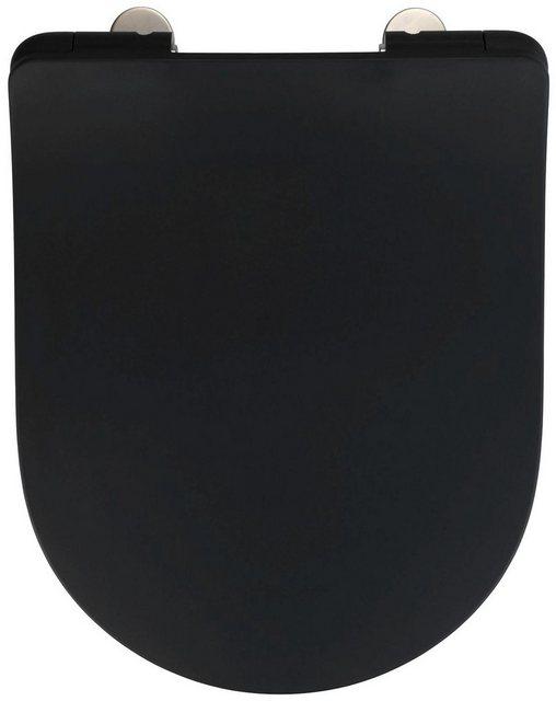 WCs und Zubehör - WENKO WC Sitz »Sedilo matt Schwarz« (1 St), aus Duroplast, mit Absenkautomatik  - Onlineshop OTTO