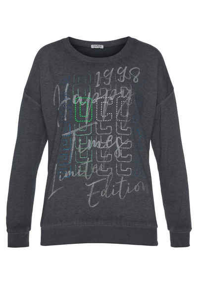 SOCCX Sweater mit großzügigem Frontprint