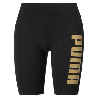 PUMA Leggings »Metallic Branded Damen Kurze Tight«