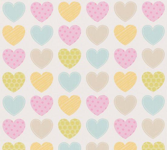 A.S. CRÉATION Papiertapete »Boys & Girls 6 mit Herzen Love«