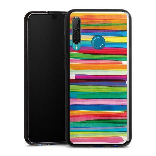 DeinDesign Handyhülle »Colorful Stripes1« OnePlus 8, Hülle Streifen Wasserfarbe